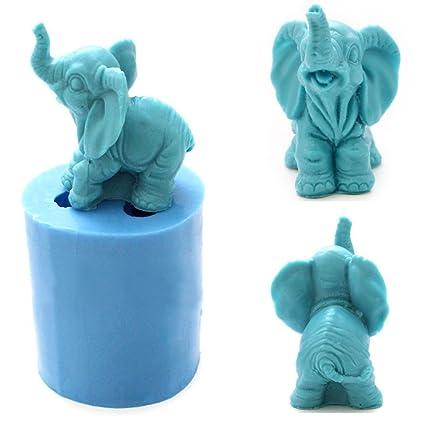 grainrain elefante Craft arte silicona jabón molde Craft moldes DIY moldes de jabón hecho a mano