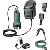Bosch Home and Garden 06008C4200 06008C4200-Bomba de agua GardenPump 18 (1 batería, sistema de 18 V, longitud máxima de la manguera de jardín 25 m, en caja), color verde