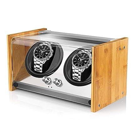 V.JUST Reloj Winder Box para Relojes Automáticos O Doble Espacioso para Cualquier Tamaño,