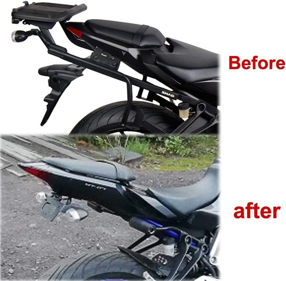 For Yamaha MT07 MT-07 FZ-07 FZ07 2014 2015 2016 2017 2018 2019 Motorcycle Rear Tail Tidy License Plate Fender Eliminator kit Color : Black