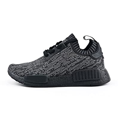 Mens Originals R1 Primeknit Pitch Black Fashion Sneakers