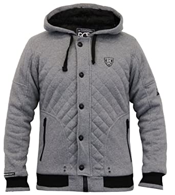 31499ef2d715 Rawcraft Mens Designer Fur Lined Quilted Diamond Hoodie with Full ...