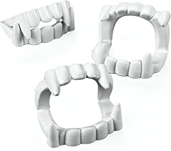 Fun Express White Plastic Halloween Vampire Teeth - 24 Pieces, 4T