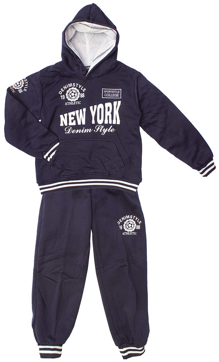Boys New York Athletic College Hoody Tracksuit Jogsuit Jog Set Sizes from 3 to 14 Years