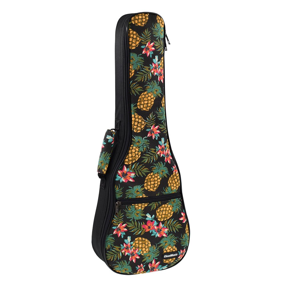 CLOUDMUSIC Ukulele Case Pineapple Ukulele Backpack 10mm Padding (Soprano)