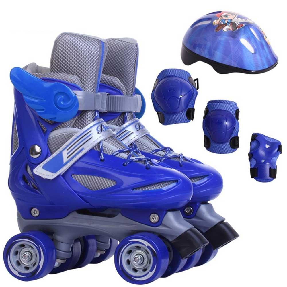 4輪スケートクアッドパティンローラー4ロダス子供4輪ローラースケートキッズダブルプロテクションロースピードスケート XS XS ブルー ブルー B0736W5HJ5 B0736W5HJ5, ツナンマチ:44f8a6c3 --- amlakzamanpour.ir