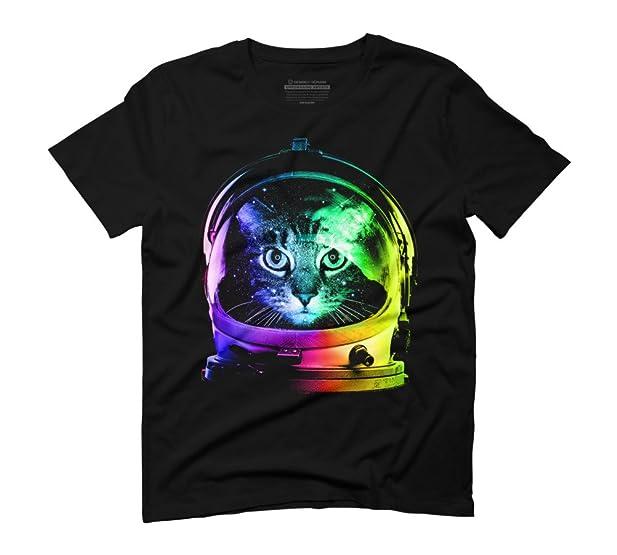 Astronaut Cat Men\'s Graphic T-Shirt - Design By Humans: Amazon.co ...