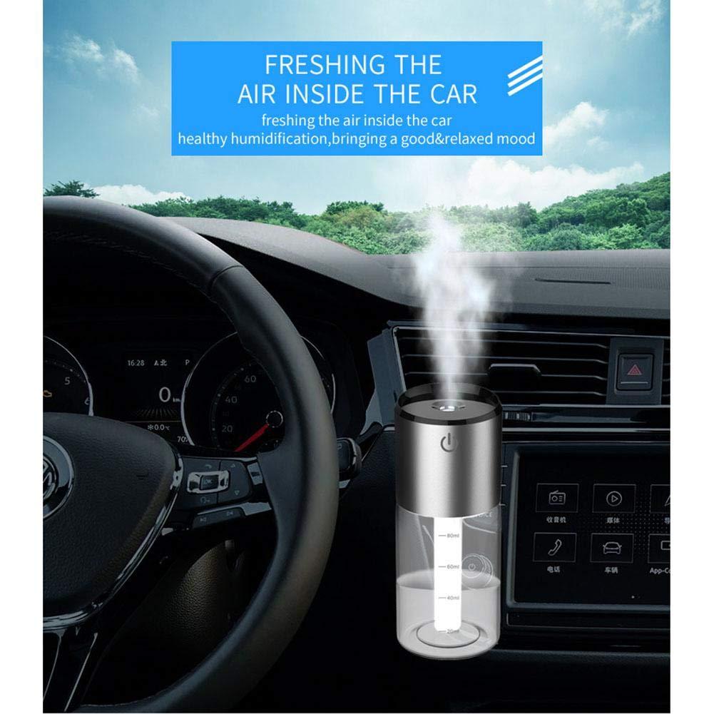 Humidificador de coche portátil con cargador USB dual Ventilador de aceite esencial Difusor aire Mini purificadores de aire USB Humidificador para la ...