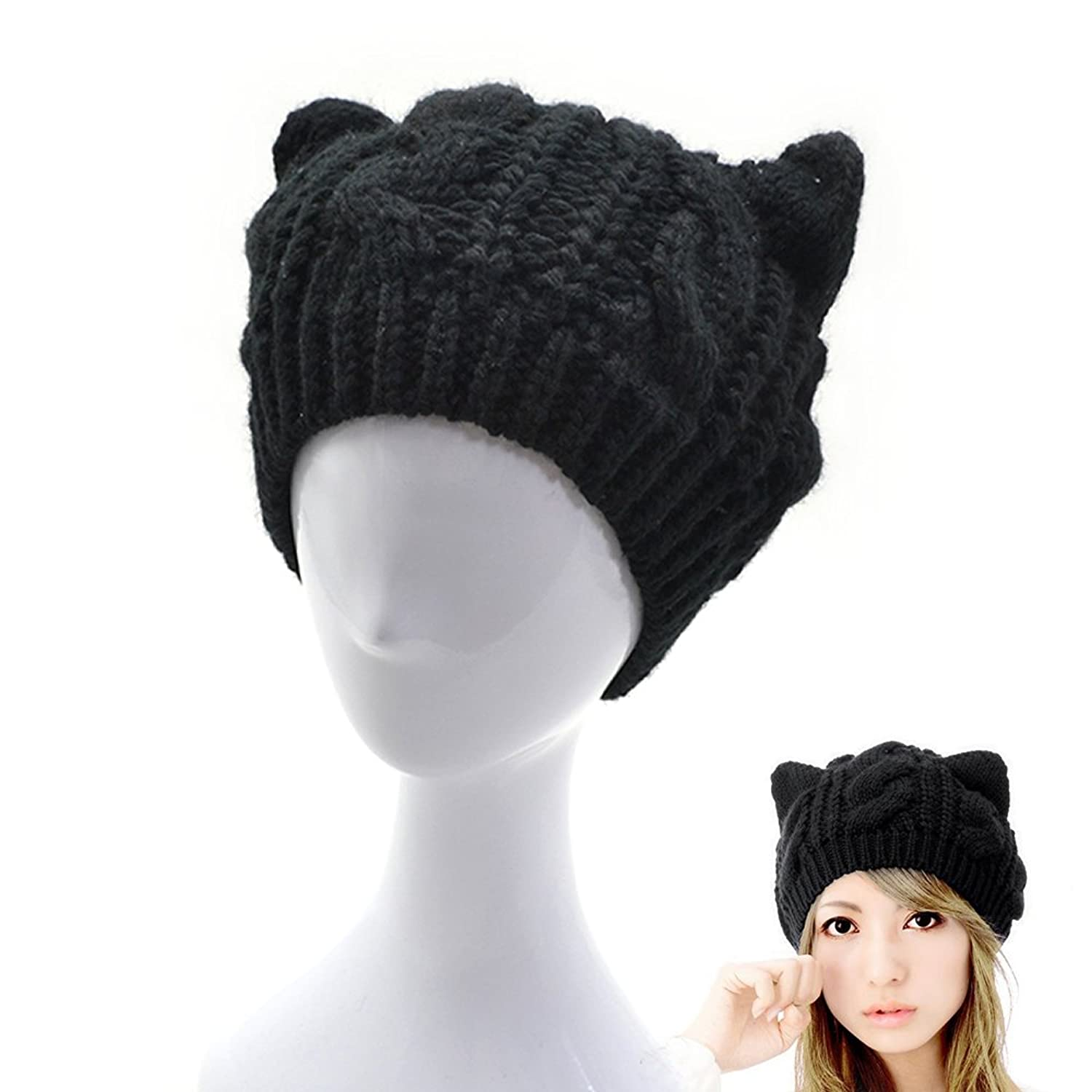 a6d1bd7fec9 AStorePlus Women Knit Hats Beanies
