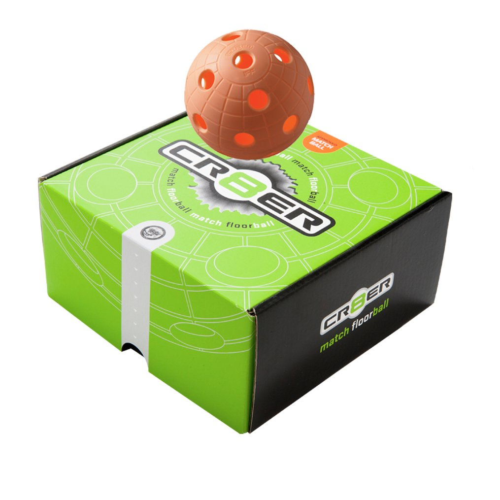 4x Floorball Ball, Unihockey Ball, 23g Unihoc Crater orange