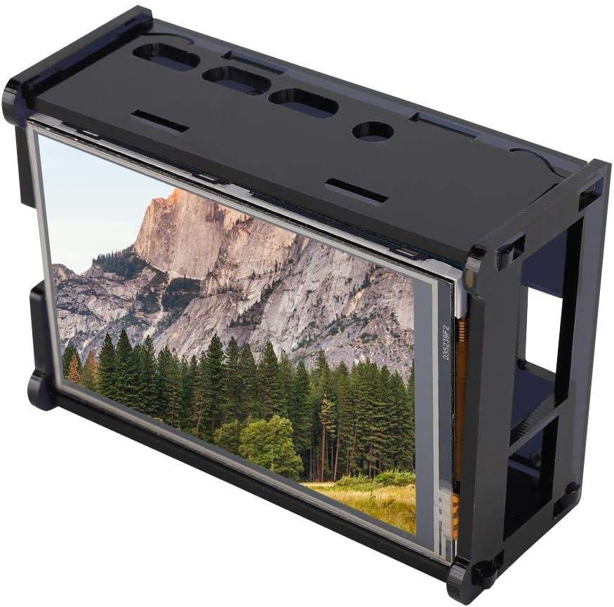 Pantalla táctil LCD retroiluminada de 3.5 pulgadas con estuche negro para Raspberry Pi 4B, resolución 320x480, una alternativa ideal al monitor HDMI, soporte para Raspbian, sistema de habilitación par: Amazon.es: Electrónica