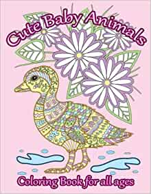 Amazon.com: Cute Baby Animals Coloring Book: Relaxing