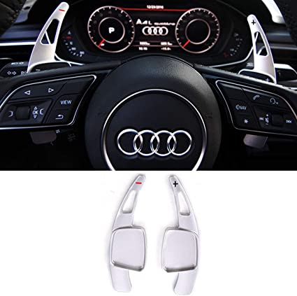 Aluminium Black Steering Wheel Paddle Shift Extensions For Audi TT//TTS 2015+