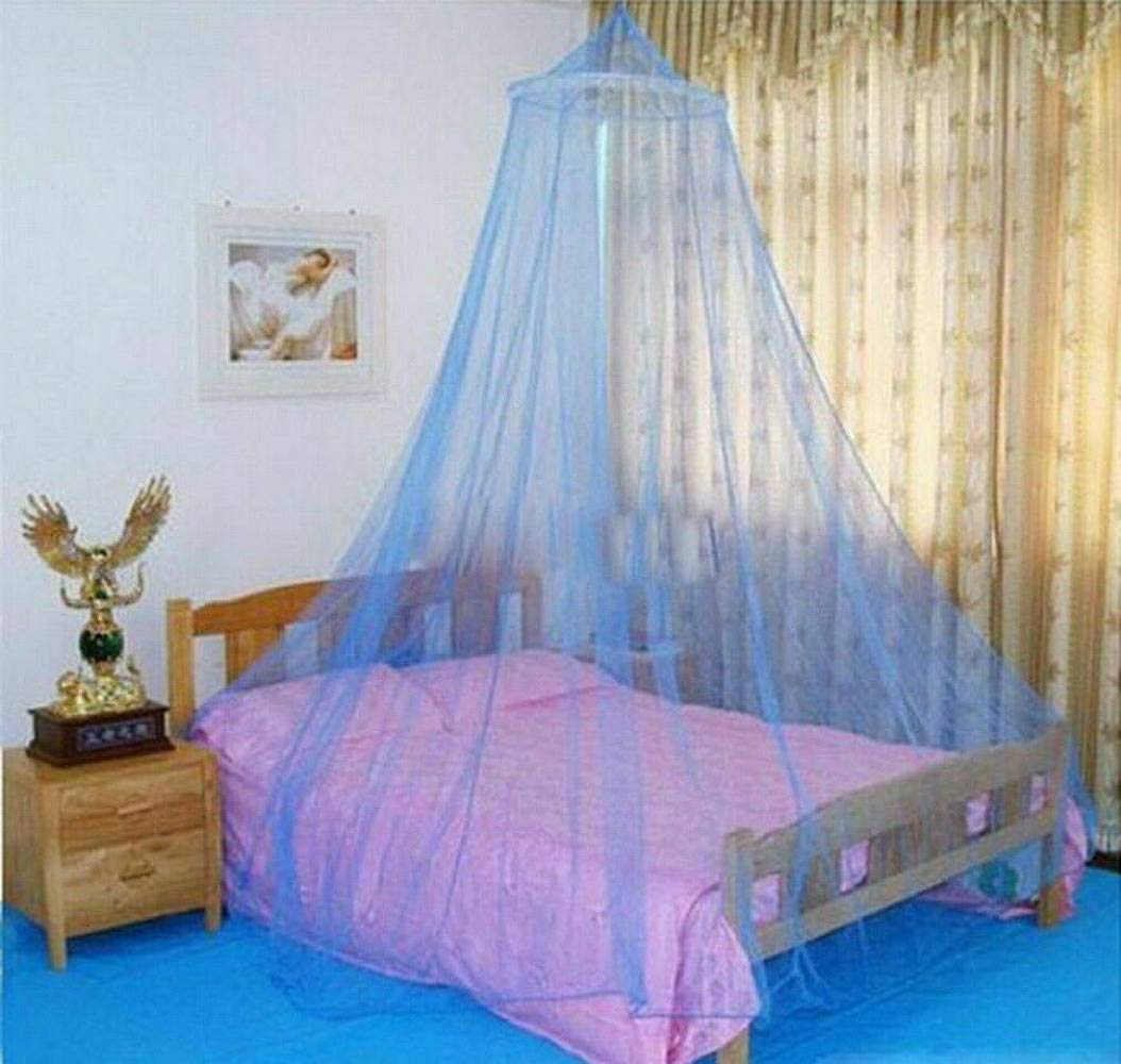 Sanwish Dome Lace Mosquito Net Bed Canopy Netting Double King Size Fly Insect Protection, Baby Princess Canopy Crib Netting Dome Bed Mosquito Net for Kids (Blue)