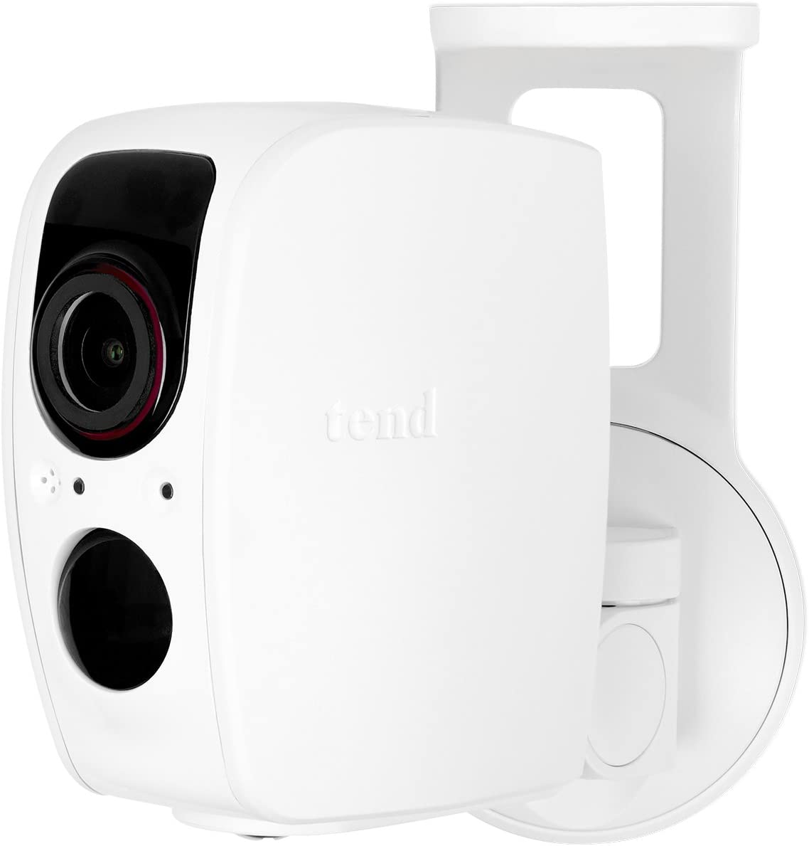 Tend Insights Lynx Pro - Indoor/Outdoor Weatherproof Wifi Security Camera With Battery Backup, Two Way Audio, Night Vision, And Included Cloud Storage, White (Ts0031)
