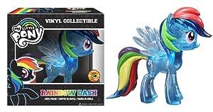 Funko My Little Pony: Rainbow Dash Vinyl Figure, Clear Glitter (SDCC Amazon Exclusive)