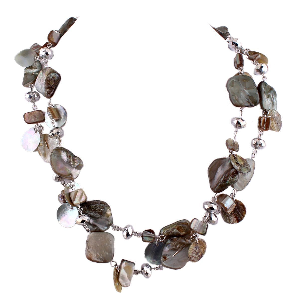Grace Jun Handmade Natrual Shell Necklace for Women Statement Necklace Good Gift (36)