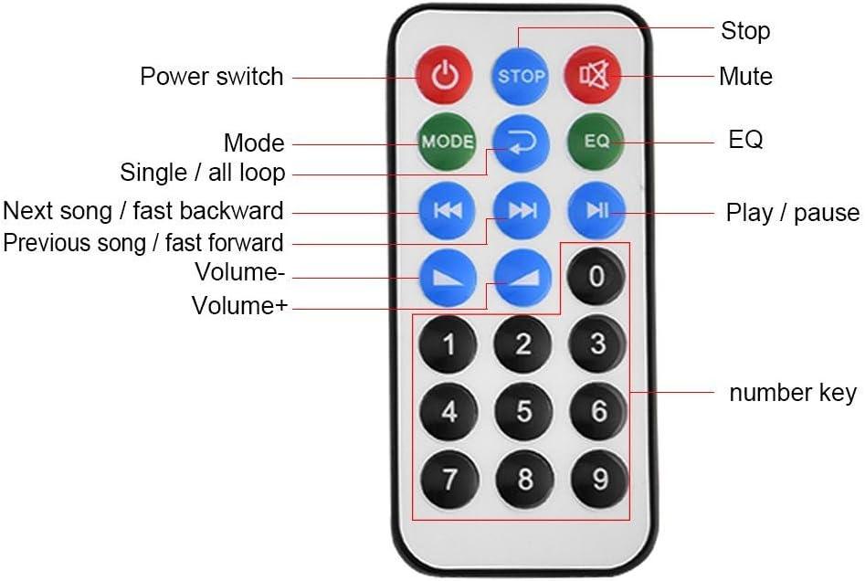 l/éger Taidda D/écodeur MP3 Portable et Portable Conseil de d/écodeur WMA MP3 Audio Module Bluetooth sans Fil USB SD FM Appel Mains Libres Robuste