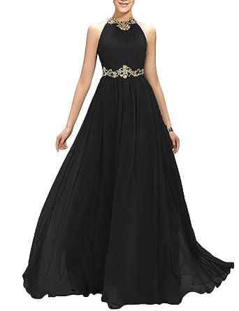 2f69c1edd8c YIRENWANSHA 2019 A Line Long Retro Wedding Sash Belt Evening Dress for  Women Ruffle Formal Prom