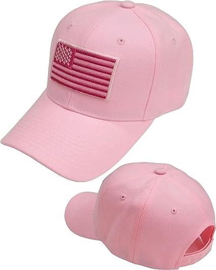 1819e2fcf14b7 Amazon.com: Cultural Exchange US Flag Tonal Patch Mens Cap [Pink ...