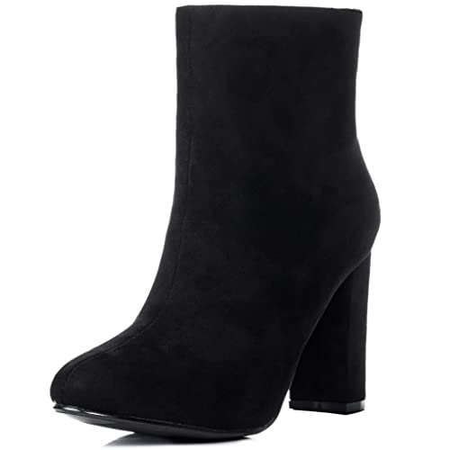 cfd93fac372 Spylovebuy DAIZE Women s Zip Block Heel Ankle Boots Shoes  Amazon.co ...
