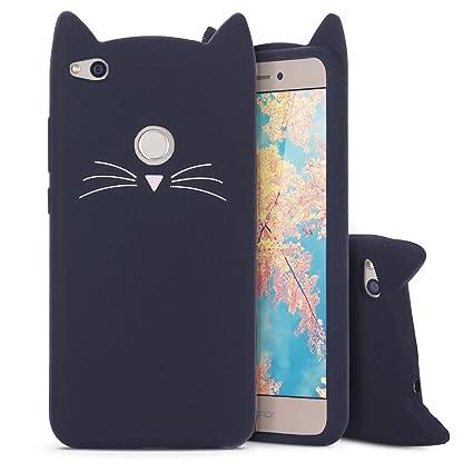 Huawei P8 Lite 2017 Funda , Moevn Carcasa TPU Suave Silicona para P9 Lite 2017 , Case Cover Orejas de Gato Slim Anti Rasguño Protección Funda para ...