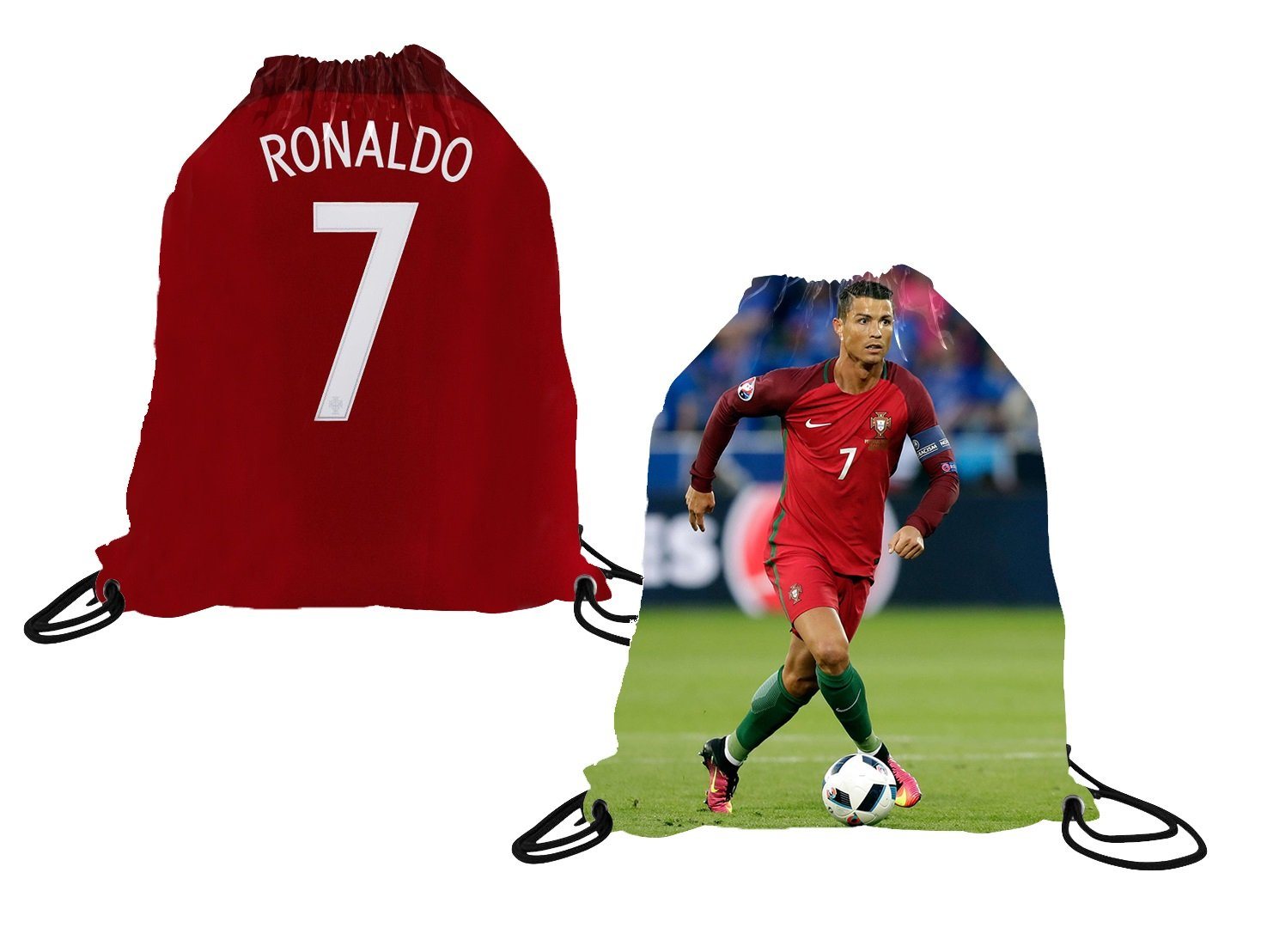 Ronaldo Jersey Style T-shirt Kids Cristiano Ronaldo Jersey Portugal T-shirt Gift Set Youth Sizes ✓ Premium Quality ✓ Soccer Backpack Gift Packaging Fanatics Life