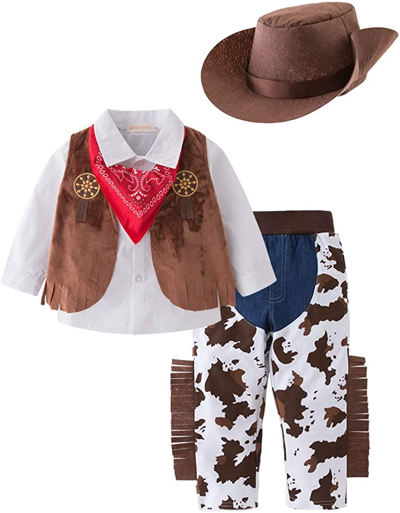 Mays Baby Western Cowboy Style Kids Costume Set Cosplay Costume