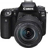 Canon EOS 90D 18-135 Nano USM DSLR Kamera, Siyah, 140.7 x 104.8 x 76.8 mm