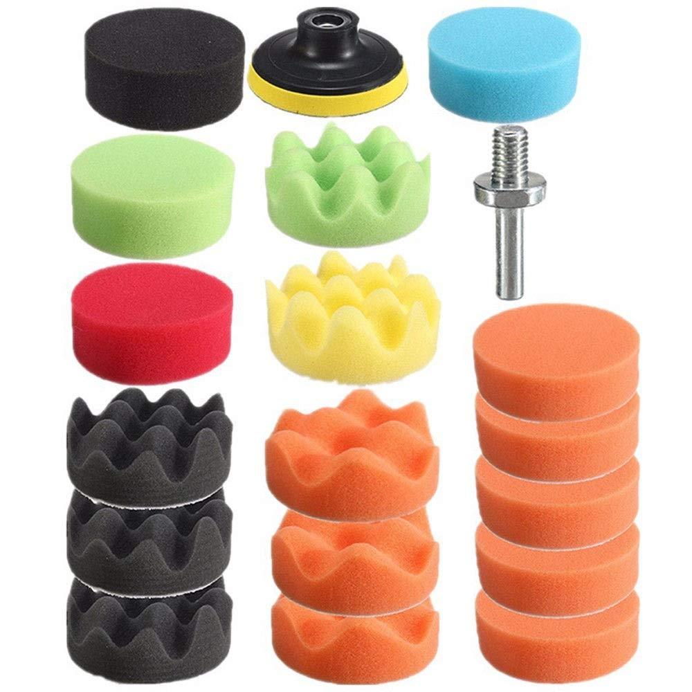 3 Inch Polishing Pad Sponge Buff Set For Car Polisher 80mm (19 PCS) by Blossom Store (Image #1)
