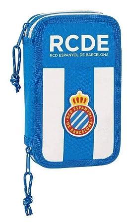 R.C.D. Espanyol 411753854 - Estuche escolar incluye 28 útiles, 125 x 40 x 195 mm: Amazon.es: Oficina y papelería