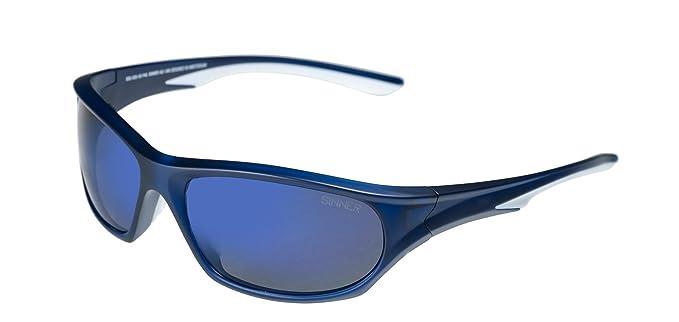 Sinner Fury para hombre Sport Wrap gafas de sol en mate azul/blanco/Sintec