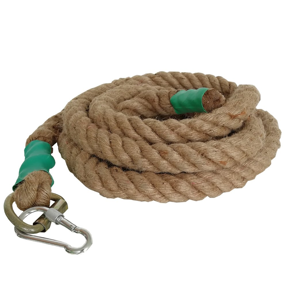 Aoneky Gym Climbing Ropes (Brown, 1.5'' x 20 ft)