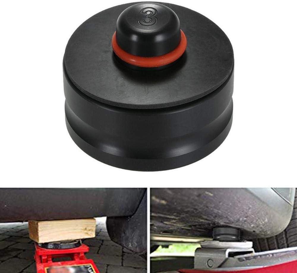 YIXISI 2 Pi/èces Jack Pad Bloc Prot/éger la Batterie et le Ch/âssis Cric Tampon Hydraulique Crics De Levage Soulever le V/éhicule en Toute S/écurit/é Tesla Model 3 Bloc Tampon en Caoutchouc