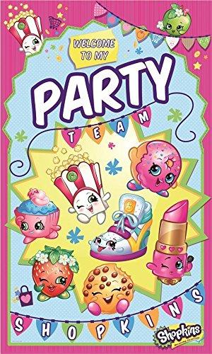Amazon.com: Gemma International Shopkins Party Team Plastic Door ...