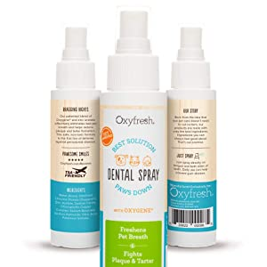 Oxyfresh Advanced Pet Dental Breath Spray for Dog & Cat Bad Breath (3oz): Best Way to Eliminate Bad Pet Breath, Fight Plaque, Tartar & Gum Disease, Fresh Breath Without Brushing - Vet Recommended