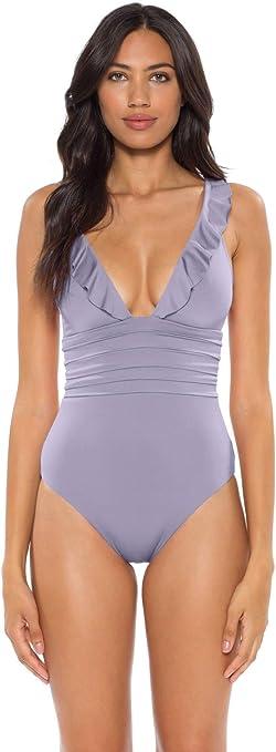 Soluna Womens Under The Sun Plunge One Piece Swimsuit Swimsuit