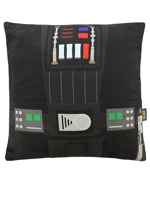 Amazon.com: Star Wars Darth Vader Cojín con bolsillos negro ...