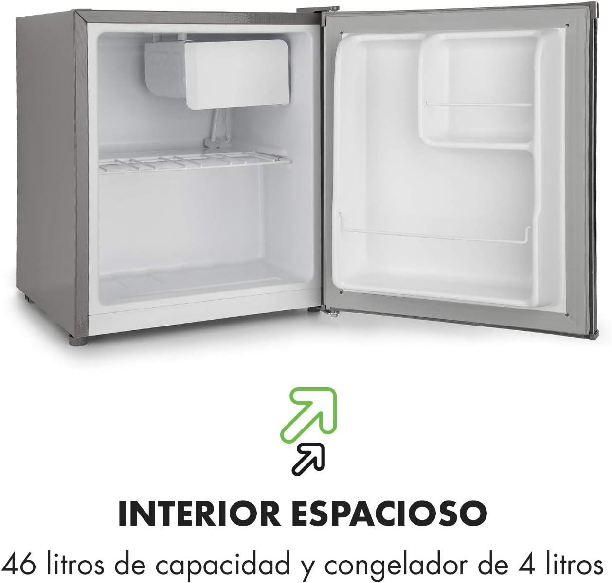 Klarstein Snoopy Eco - Mininevera con congelador, 46 litros de ...
