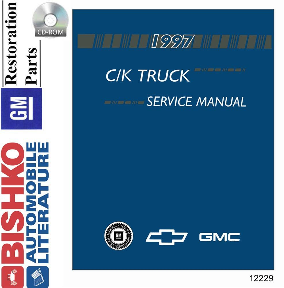 Bishko Automotive Literature 1997 Chevy Pickup C K Truck 1500 Wiring Diagram Cd Player Shop Service Repair Manual Engine Electrical Oem
