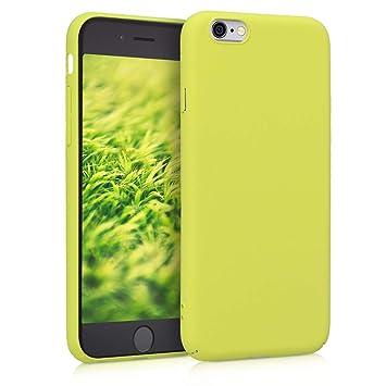 kwmobile Funda para Apple iPhone 6 / 6S - Carcasa [Trasera] Protectora de [Silicona] - Cover Duro en [Amarillo neón]