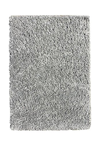 Maxy Home Belvedere Shag Solid Grey 39 in. x 60 in. Area Rug