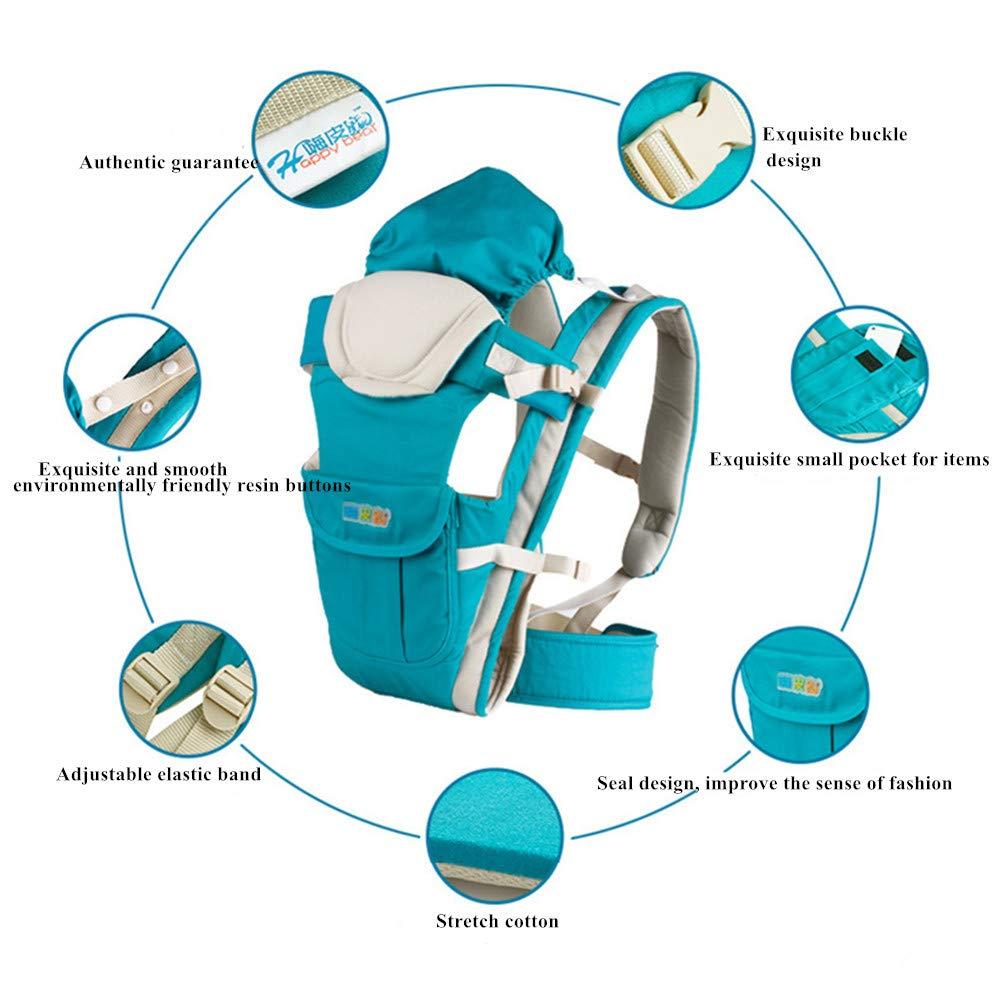 Portabebes,Sunzit Portabebes Ergon/ómico Transpirable Ajustable C/ómodo Algod/ón Mochila Portabeb/és Multifuncional Mejorado Ligero Seguro Resistente a los Golpes Azul