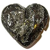 Pyrite Heart 57 Large Fool's Gold in Love Crystal Shiny Deep Cluster Crystal Gift Stone 2.7''