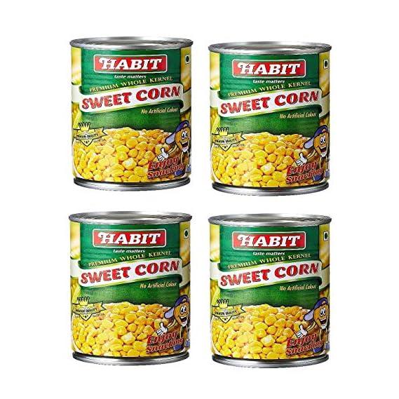 Habit Premium Whole Kernel Sweet Corn,410g (Pack of 4)