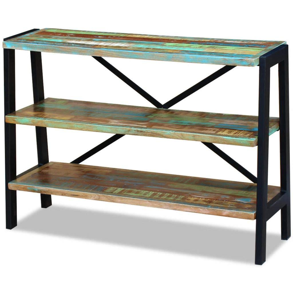 vidaXL Solid Reclaimed Wood Sideboard Side Console Table Nightstand 3 Shelves