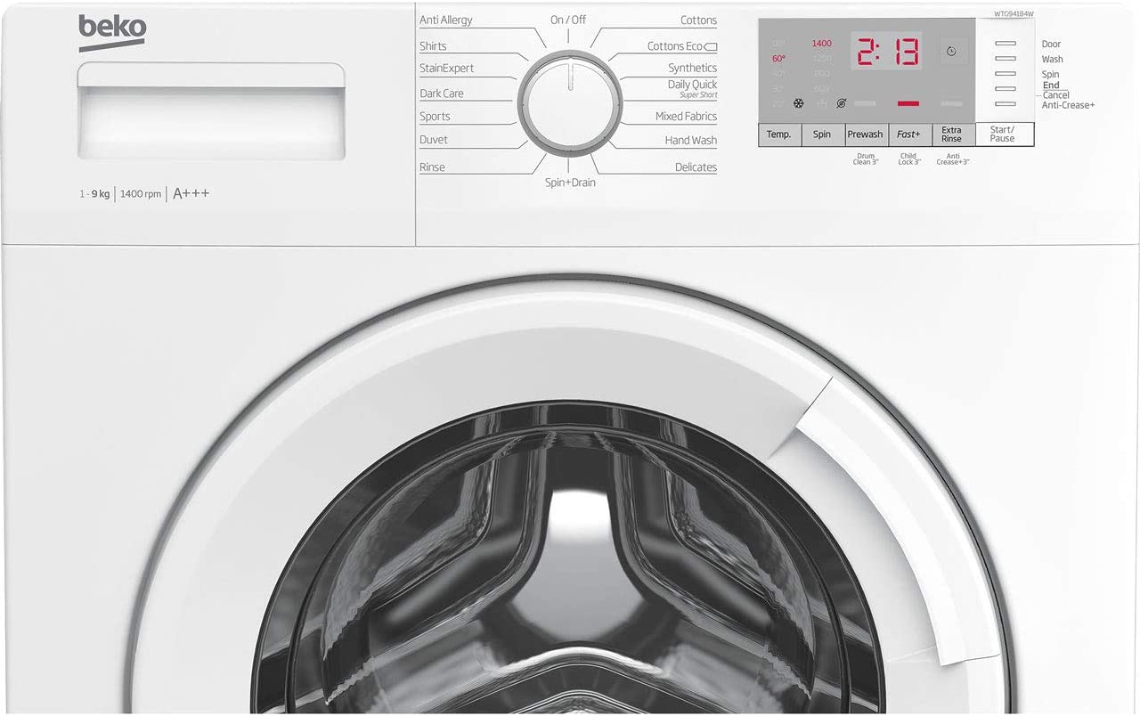 Beko WTG941B4W 9Kg Washing Machine with 1400 rpm White