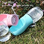 MalsiPree Dog Water Bottle, Leak Proof Portable Puppy Water Dispenser with Drinking Feeder for Pets Outdoor Walking, Hiking, Travel, BPA Free Food Grade Plastic 17