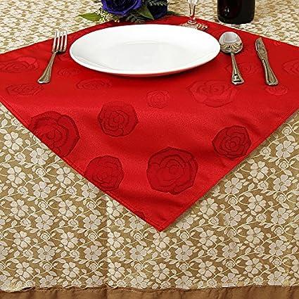 Hotel boda rojo Fu métier toalla Restaurant Bar Tejido cristal servilletas 50 * 50 cm 10