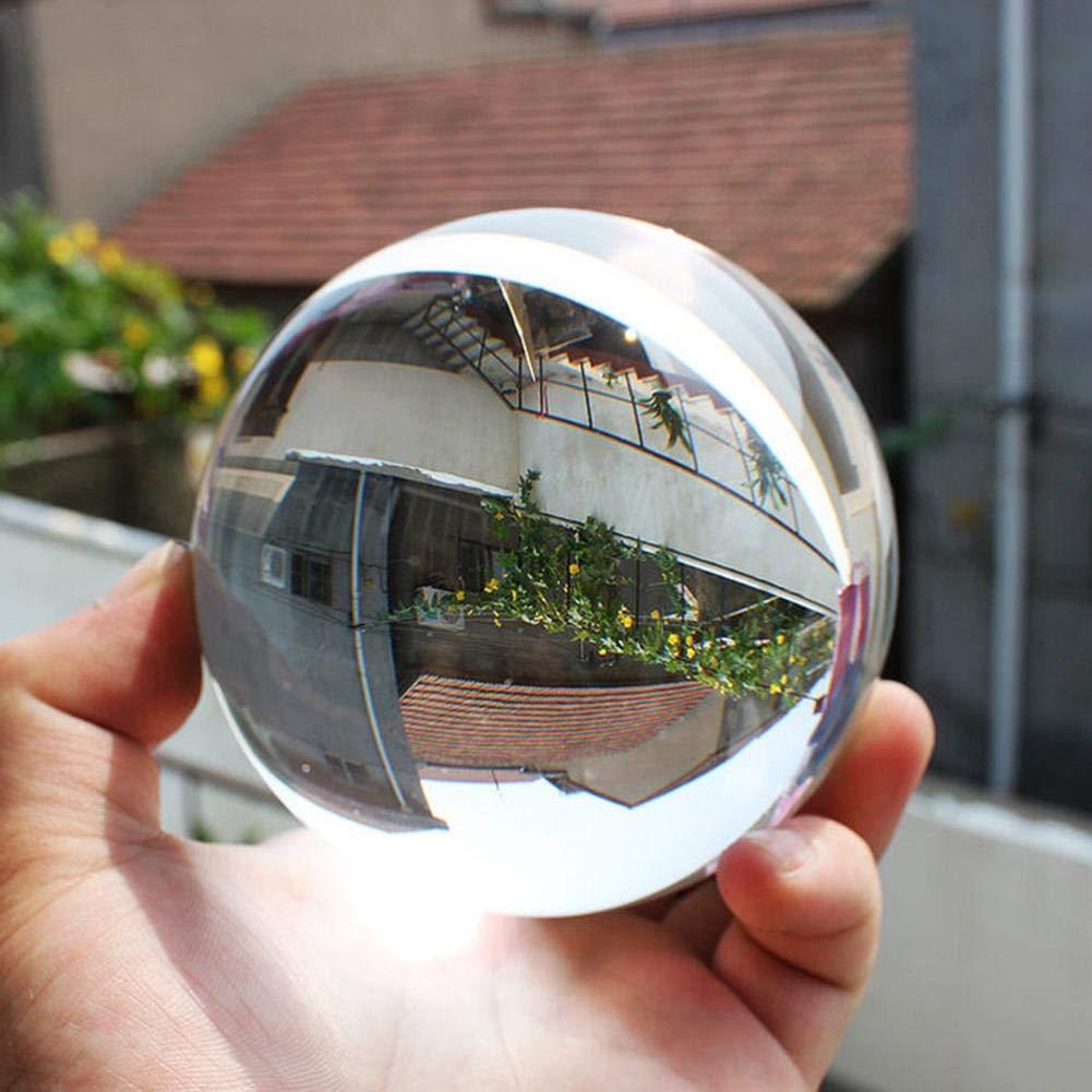 Kristallkugel Glaskugel K/ünstliche Aus Glas Glaskugel Klare Kristallkugel 80//60//50//40//30mm f/ür Meditation und Heilung Glaskugel f/ür Dekoration Fotokugel aus Glas f/ür Feng Shui Fotografie